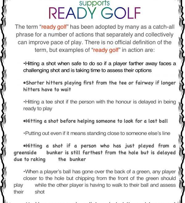 Ready Ready Golf Please