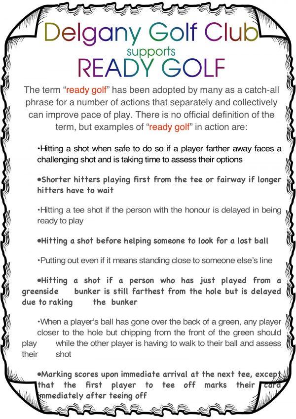 Ready Ready Golf Please - Delgany Golf Club