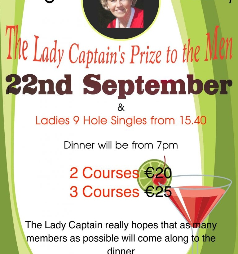 The Lady Captain's Prize to Men
