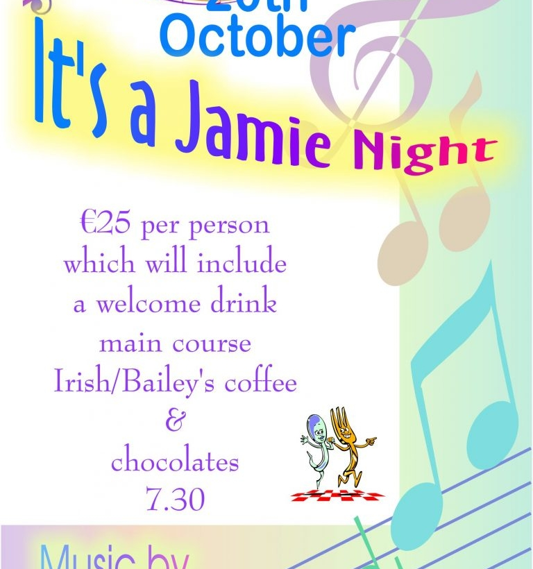 Jamie Night – Saturday, October 20th